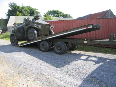 Ex British Army 10 ton Recovery Trailer with Panhard M3 VTT.